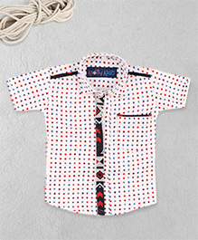 Knotty Kids Printed Shirt - White