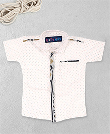 Knotty Kids Half Sleeve Printed Shirt - White