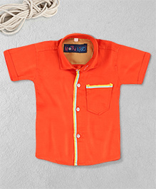 Knotty Kids Stylish Plain Shirt - Orange