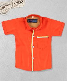 Knotty Kids Stylish Plain Shirt - Orange