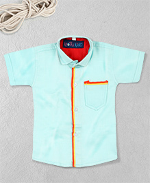 Knotty Kids Stylish Plain Shirt - Blue