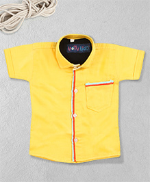 Knotty Kids Stylish Plain Shirt - Yellow