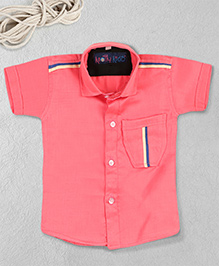 Knotty Kids Plain Half Sleeve Shirt - Pink