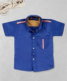 Knotty Kids Plain Half Sleeve Shirt - Blue