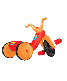 OK Play Falcon Manual Pedal Tricycle - Orange & Red