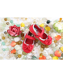LCL Belly Shoes Bow Applique - Red