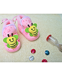 Little Bunnies Butterfly Design Infant Booties - Pink