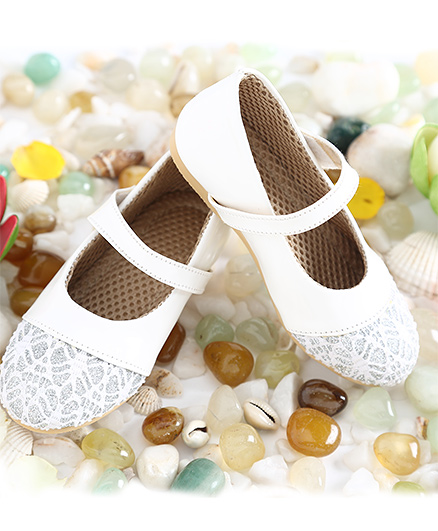 LCL Party Wear Belly Shoes - White