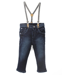 Gini & Jony Full Length Jeans With Suspenders - Dx Wash