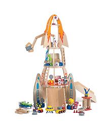 Plum Super Space Rocket Wooden Play Set - Multicolor