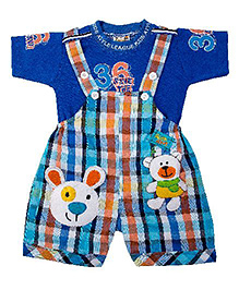 Yashasvi Dungaree With Half Sleeves T-shirt - Blue