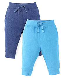 Mothercare Full Length Track Pants Pack Of 2 - Navy Blue & Turquoise