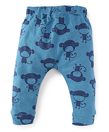 Mothercare Full Length Monkey Print Leggings - Blue