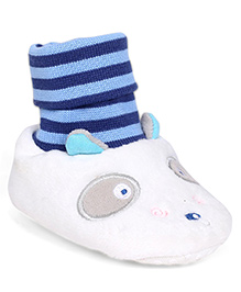 Mothercare Animal Design Booties - White & Blue