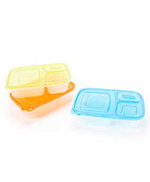 Ez Life 3 Piece Compartment Storage Containers - Multicolour