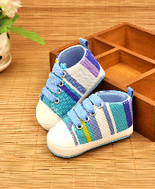 Alle Alle Soft Canvas Shoes Style Booties - Blue