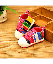 Alle Alle Soft Canvas Shoes Style Booties - Pink