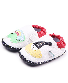 Alle Alle Shoes Style Booties Clown Design - White
