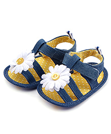Alle Alle Flower Sandal Style Booties - Blue & Yellow