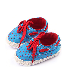 Alle Alle Soft Sole Canvas Shoes Style Booties - Blue