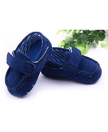Alle Alle Baby Loafers Style Booties - Blue