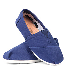 One Friday Canvas Formal Shoes - Blue
