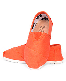 One Friday Canvas Formal Shoes - Orange