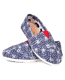 One Friday Casual Trendy Print Shoes - Blue