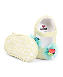 Ivee Baby Anti Skid Soft Sole Booties - Lemon