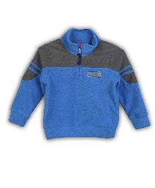 Lilliput Kids  Team Lpt Block Color Zippy Neck Sweatshirt - Navy Blue 5-6 Years 100% Cotton