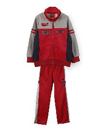 Lilliput Kids Full Sleeves Track Suit - Red