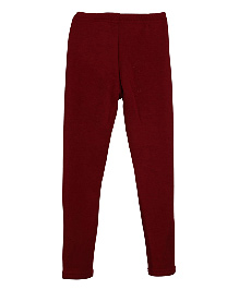 Lilliput Kids Plain Solid Color Leggings - Maroon