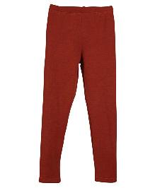 Lilliput Kids Plain Solid Color Leggings - Terracotta Red