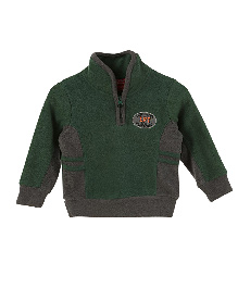 Lilliput Kids Full Sleeves Snuggle Neck Jersey - Moss Green & Grey