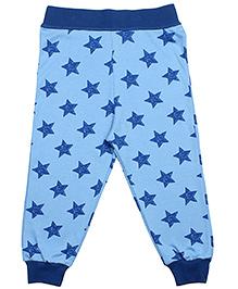 Earth Conscious Full Length Organic Cotton Stars Print Leggings - Blue