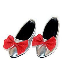 SnugOns Baby Bellies With Bow Applique - Silver