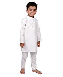 Raghav Kurta & Pajama Set - White