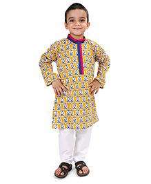 Raghav Kurta & Pajama Set - Multicolour