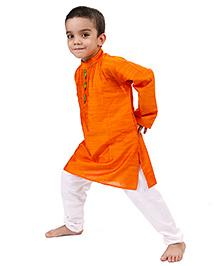 Raghav Kurta & Pyjama Set - Orange