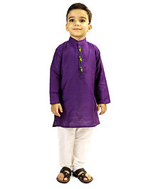 Raghav Kurta & Pyjama Set - Purple