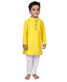 Raghav Kurta & Pyjama Set - Lemon Yellow