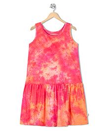 Raine And Jaine Dyed Girls Dress - Pink