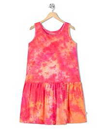 Raine And Jaine Dyed Girls Dress - Pink