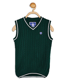 612 League Sleeveless Flat Knit Cable Sweater - Green
