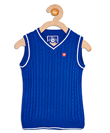 612 League Sleeveless Flat Knit Cable Sweater - Blue