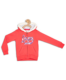 612 League Full Sleeves Hooded Jacket With Front Pockets - Dark Pink