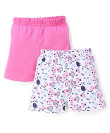Babyhug Shorts Pack of 2 - White Pink