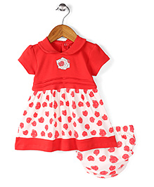 Wonderchild Pretty Frock With Bloomer - Red