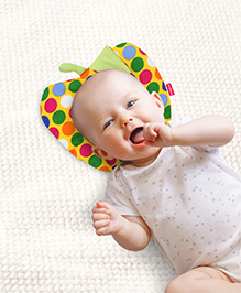 Babyhug Fruit Shape Pillow Polka Dots - Yellow