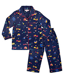 CrayonFlakes Chica Boom Night Suit - Navy Blue